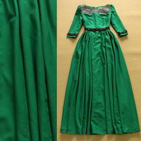Brand Designer Women 2015 Summer Elegant Vintage Retro Cotton Celebrity Party Floor Length Maxi Dress Casual Long Dress Vestidos