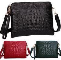 New shoulder bags 2015 genuine leather crocodile women shoulder bag messenger bag Day clutch handbag free shipping