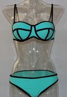 free shipping women biquini push up bikini swimwear neoprene new hot gift 8 colors plus size