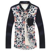 Men Plus Size Shirt Brand New Casual Slim Fashion Cotton Shirts Size 5XL 4XL 3XL 2XL For Man Camisa Masculina Dress Shirt