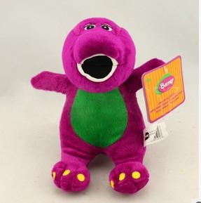 2015 new hot sale Cute Barney the Dinosaur Plush Toy 18CM TV Cartoon Soft Dolls Toy Kids Birthday Gifts1pc Free Shipping(China (Mainland))
