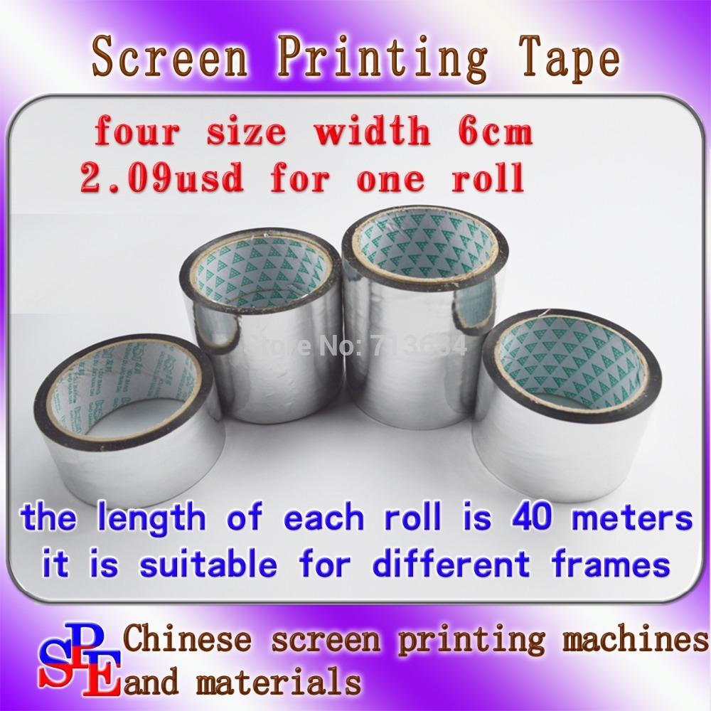 screen frame width 6cm aluminium tape screen printing adhesive tape foil tape screen press length 40 meters in screen frame(China (Mainland))