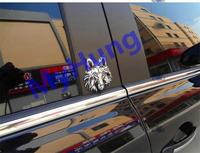 Car sticker 3d metal wolf sticker badge sticker for all the car 1pc per set