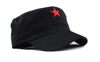 Military Hats Pentagram flat caps, red star retro wind motorcycle cap chairman MAO lei feng's cap wholesale,Free Shipping
