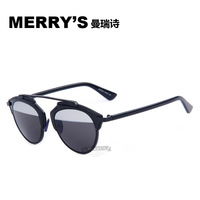 2015 MERRY'S So Real Cat sunglasses metal frame reflective mirror glasses for men and women couple Brand Designer Oculos De Sol