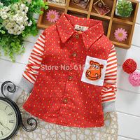 New 2015 Children Spring Top Wear Boys' Shirts Baby Boys' Top Wear Striped Children Shirts