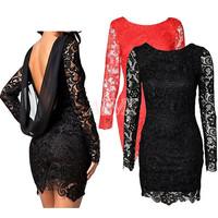 2015 vestido de festa Winter Women Casual Dress Tropical Sexy Club Party Evening Lace Dress To Incomeo Cheap Clothes China roupa