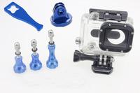 F05818-B Stainless Bolt Nut Screw Kit Aluminum Wrench Aluminium Tripod Mount Adapter for Gopro Hero 2 Camera+US Free Shipping