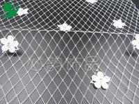 Bride DIY gauze fabaceous beans net handmade lace flower size to Korean wedding headdress 25*91CM