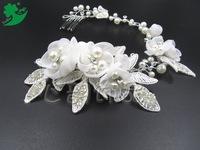Professional wholesale custom-made wedding bride wedding jewelry handmade comb hair headdress plate inserted pearl comb