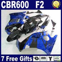 ABS motorcycle fairing bodywork for Honda blue black 91 92 93 94 CBR 600 F2 CBR600 F2 1992 1993 1991 1994 CBR600F2 fairngs parts