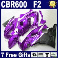 ABS plastic OEM fairing kits for Honda 91 92 93 94 CBR 600F2 CBR600 F2 1992 1993 1991 1994 CBR600F2 purple black fairngs bodykit