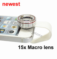 Newest mobile cell phone len 15x macro lens for iphone 5 5s 6 plus Samsung s3 s4 note 2 3 HTC Nokia Xiaomi