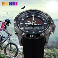 Free shipping 2015 fashion casual Men's watch Waterproof Luminous Outdoor Solar Motion Electronic Wristwatches 3 colors --bnf