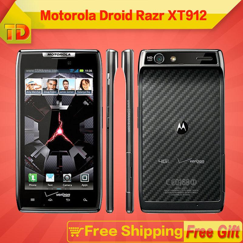 Motorola DROID RAZR XT912 MAXX Original Dual Core Android Phone 3G16GB 4.3inch 8.0MP HD Video Free shipping(China (Mainland))