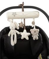 MaMas Papas Baby Stroller Rabbit Toys Hanging Rattle Bunny Plush Musical Mobile