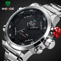 WEIDE Men Wristwatches Fashion Casual Quartz Watch Dress Relogio Masculino Military Digit Watches Men Sports brand Relojes Hour