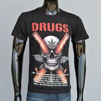 Men's summer trend 3D skull stamp series short-sleeved T-shirt