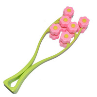 Free shipping Flower Face Up Roller Massage Slimming Remove Chin Neck Facial Massager Beauty