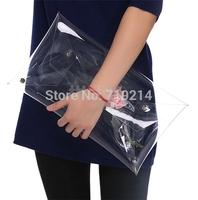 Women PVC Transparent Envelope Clutch,Ladies Vintage Handbag & Messenger Bags SV013729