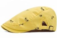 2015 New Small fresh summer unisex beret cap cartoon Korean design a leisurely summer cycling hat, Free Shipping