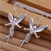 Special Angel 925 sterling silver Fashion big earings Jewelry crystal Drop earrings trendy women earrings Free shipping
