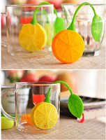 Cute Lemon Silicone Tea Leaf Herbal Infuser Filter Diffuser Strainer