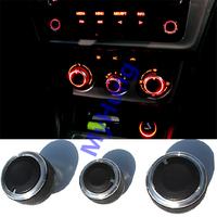 Car AC Knob Air Conditioning heat control Switch knob for Volkswagen polo 2010 2011 2012 2013 2014 Aluminum alloy 3pcs per set