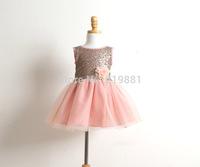 2015 Girl's summer sequins flower tutu dress , girls costumes , baby girl dresses , 6pcs/lot   GQZ20