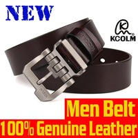 2015 New Men's belt 100% Genuine Leather mens belts luxury Fashion Leather belt for men Pin buckle Belts and Boxes