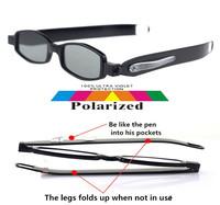 2015 360 degree rotating folding polarized sun glasses polaroid polarised Easy to carry ski UV 400 men women sunglasses