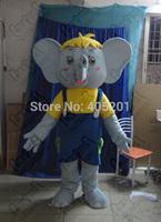 cute koala elephant mascot costumes yellow shirt blue bib shy animal school mascots