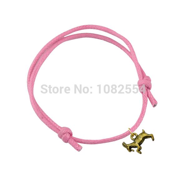 New Arrivals Running Goat Lamb Animal Pendant Wax String Bracelet(China (Mainland))
