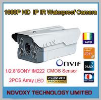 Free Shipping 2MP 1/2.8 Inch Sony CMOS 1920X1080P 4pcs Array LED HD IP IR  Waterproof Camera  Infrared Night Vision  IP Camera