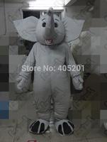 light grey fur elephant mascot costume big ear EVA head export cartoon animal cosumes