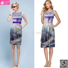 Robe De Soiree Elegant Silk Pattern Short Prom Dresses 2015 Runway Fashion Show Vestido De Festa Party Dresses MK-12(China (Mainland))