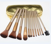 HOT NEW Makeup Brushes Nude 12 piece Professional Brush sets Cosmetic Make Up Gold package(50 pcs/lot)+gift