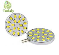 Tanbaby 10pcs led spot bulb G4 18pcs SMD 5730 DC12V 6W corn bulbs white or warm white indoor led lighting chandelier