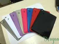 100pcs/lot New Fashion HOT Sale Ultra Thin S Line TPU Gel Soft  Rubber Silicone back case skin cover For iPad 6 Air 2 9.7""