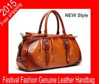 2015New!hot selling handbags High Quality Genuine Leather Women Handbag Fashion Women Leather Messenger Bag woman shoulder bag