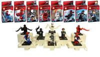80pcs/lot Super Heroes Avengers Spider man Serials Building Blocks Sets Minifigure Educational DIY Construction Bricks Toys