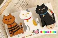 New 3 pcs/set colors sitting cats style clip set / wooden clip peg / Fashion /Wholesale