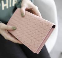 Lady Long Thin Wallet Clutch Women Fashion Design Woven multi-card bits Card Holder women Change Purse Feminina Carteira 776e