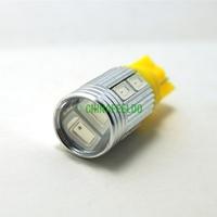 10Pcs Yellow Car DC12V T10 194/168 Wedge 10-SMD 5630 LED Light Bulb With Lens #J-927
