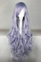 Fashion Lady 80cm Long Rozen Maiden Light Purple Anime Cosplay Costume Wig Kanekalon Hair brazilian no Lace Front Wigs