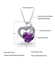S925 Sterling Silver Necklaces Cupid Love With Drilling Micro 2015 Valentines Gift S925 Silver Fashion Chain