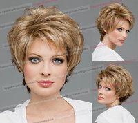 Female short wig volume fluffy real shot short hair female hair new fashion models with Hairnet