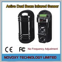 Free Shipping  Adjust Photoelectric 2-Beam Perimeter Detector Active Infrared IR Sensor Outdoor Burglar Intrusion Alarm