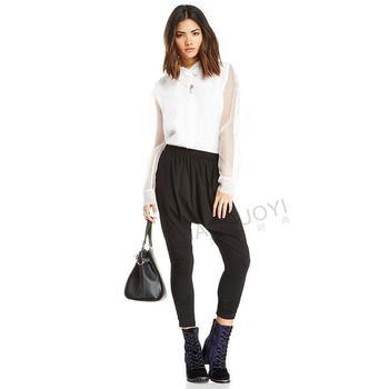2015 новая коллекция весна лето женщины блузка белый лоскутная полный рукавом свободного покроя женщины блузки все матч одной кнопки рубашка бесплатная доставка