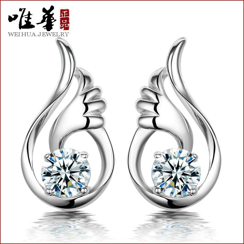 Серьги-гвоздики Crystal earrings 2015 2015 crystal earrings 2015 WHE066 2015 2016 2015 2015